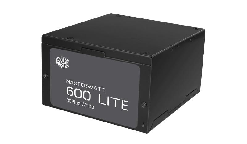 Fuente De Poder Cooler Master Masterwatt Lite 600w 80 Plus Standard 24 Pines 6 Sata 3 Molex